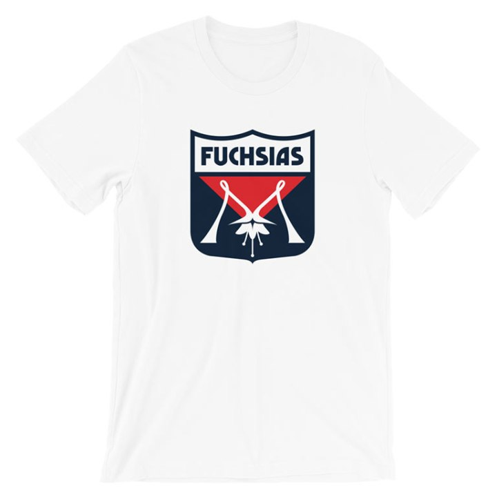 melbourne fuchsias vintage football shirt