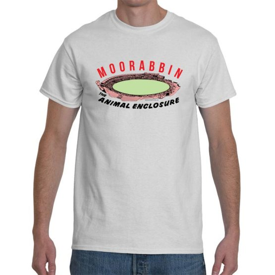 vintage t shirt of the moorabbin oval retro footy ground