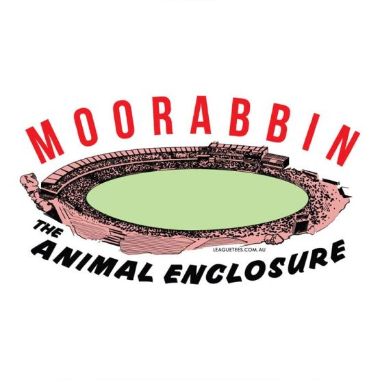 retro t-shirt of the moorabbin suburban footy ground
