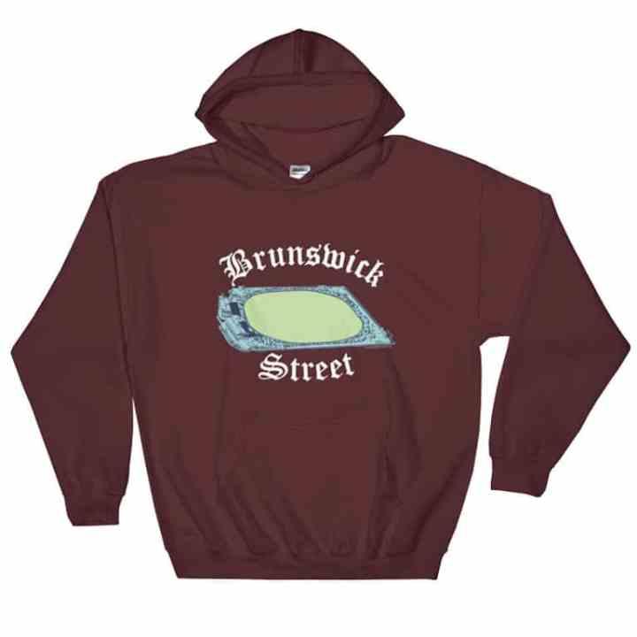 Brunswick Street Oval Fitzroy hoodie in maroon