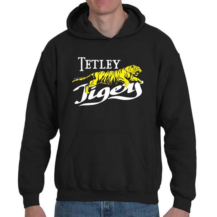 Tetley Tigers retro footy hoodie