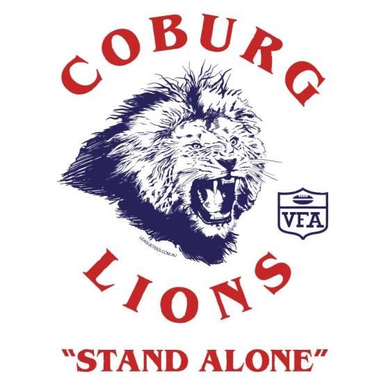 Coburg Lions VFA retro footy jumper