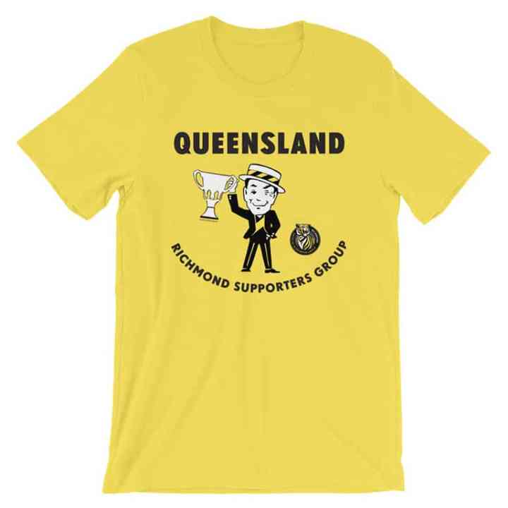 Richmond Tigers Queensland Supporters football yellow