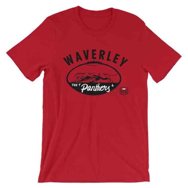 Waverley Panthers VFA vintage tshirt red