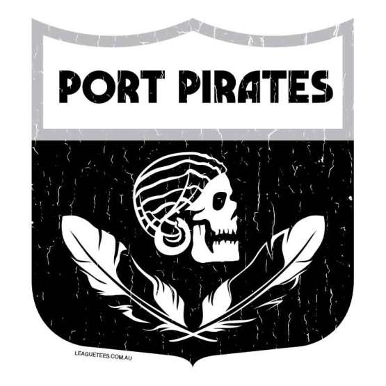 port pirates retro footy logo