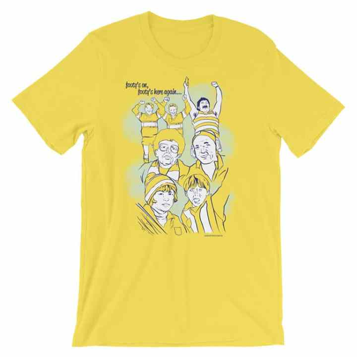 the thing about football tshirt yellow