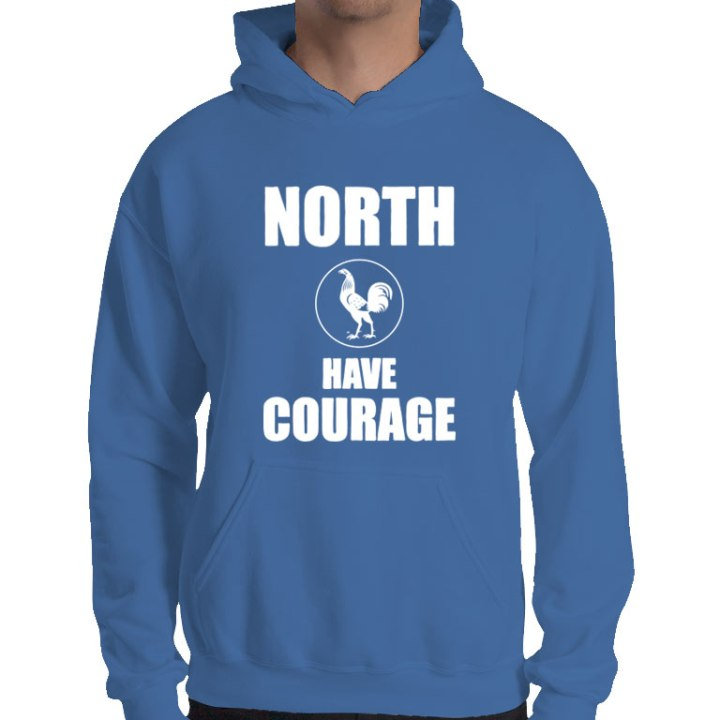 North Have Courage retro footy hoodie
