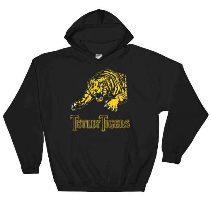 tetley tigers fanfooty hoodie black