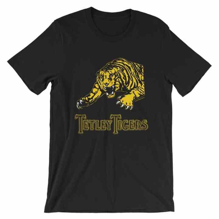 tetley tigers fanfooty vintage t shirts black
