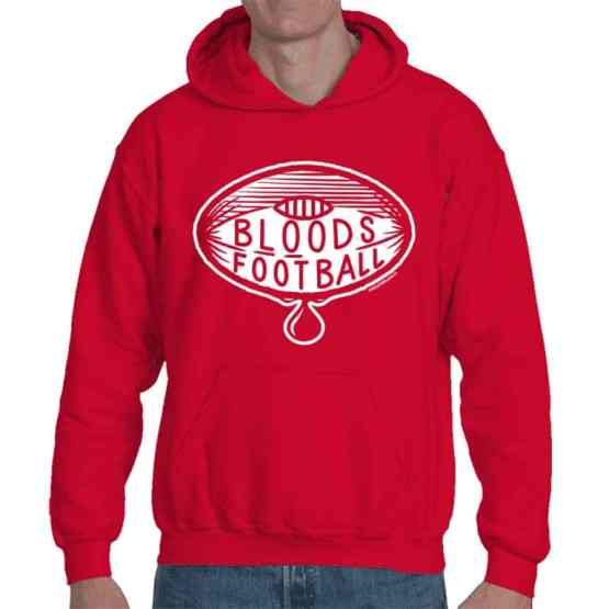 the bloods retro football hoodie