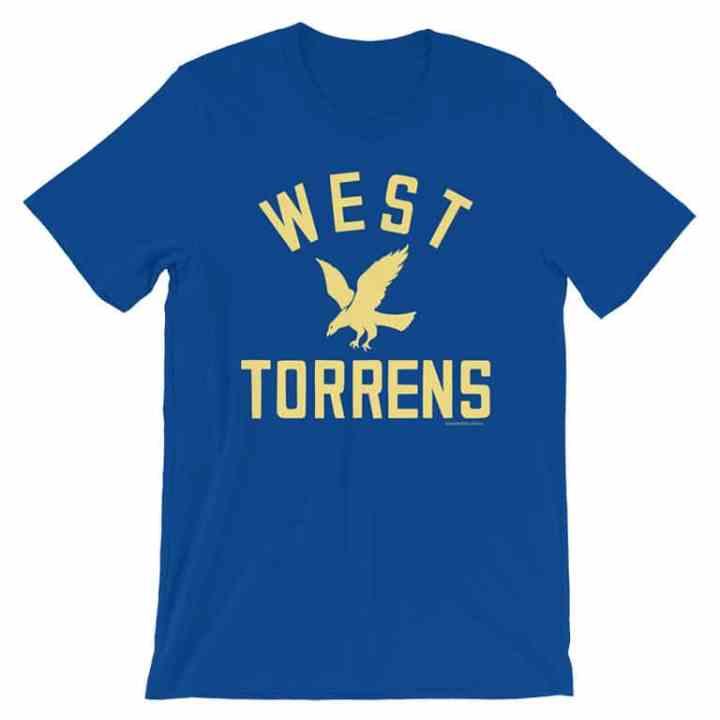 west torrens footy tees blue