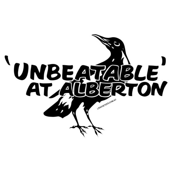 alberton magpies retro footy tees