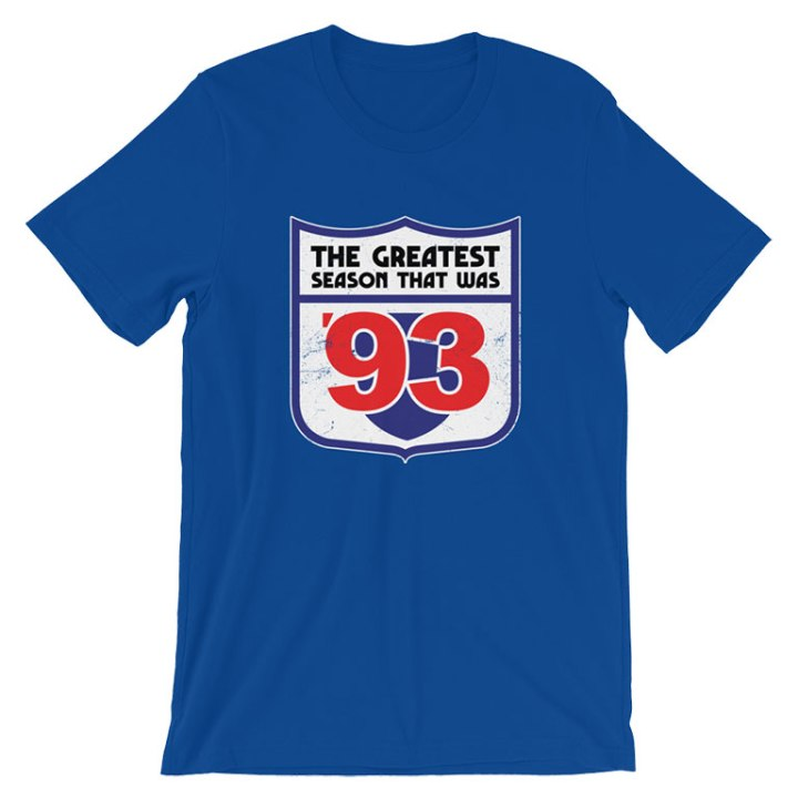 the greatest season 1993 blue t-shirt