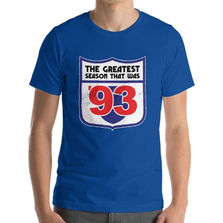 the greatest season 1993 podcast t-shirt