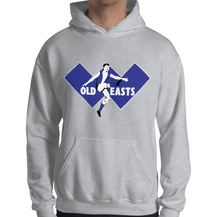 east fremantle retro footy hoodie