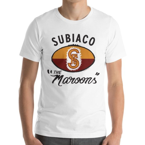 subiaco retro footy t-shirt