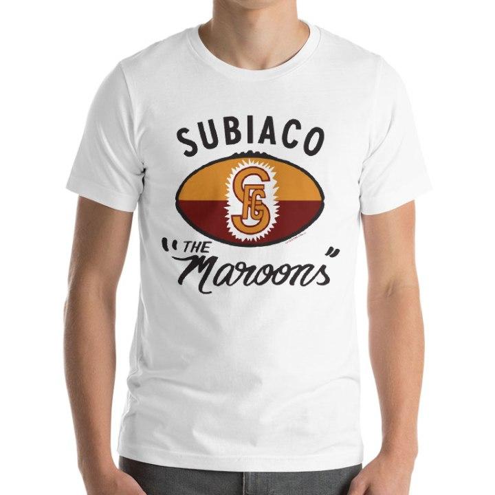 subiaco retro footy t-shirt