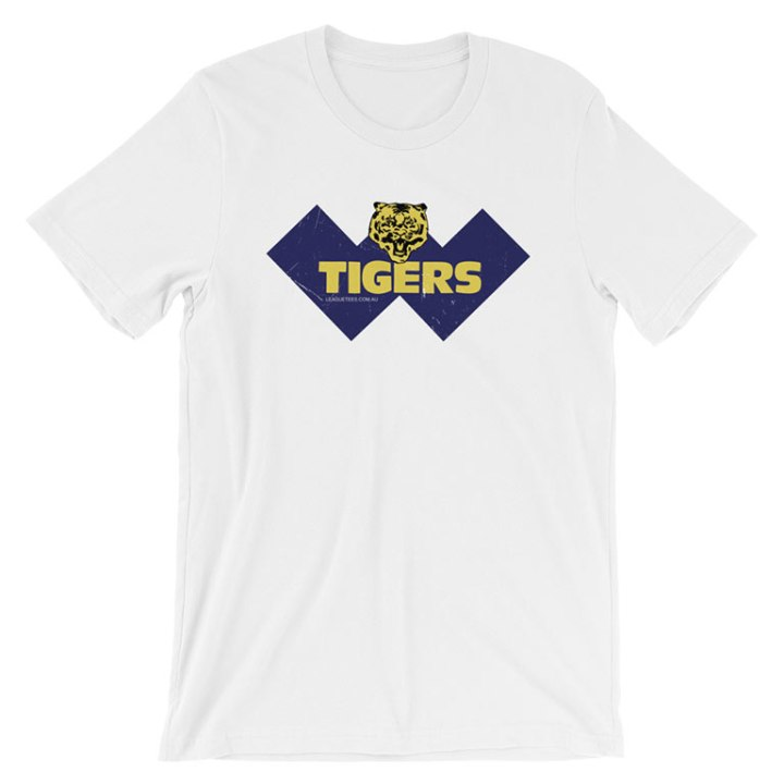 claremont tigers football shirt white