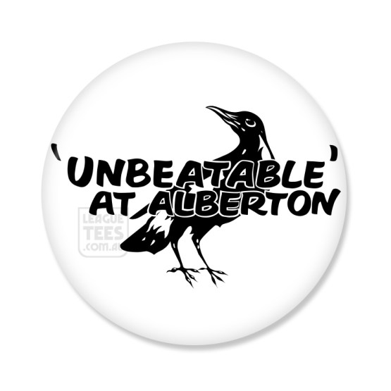alberton oval vintage football badge