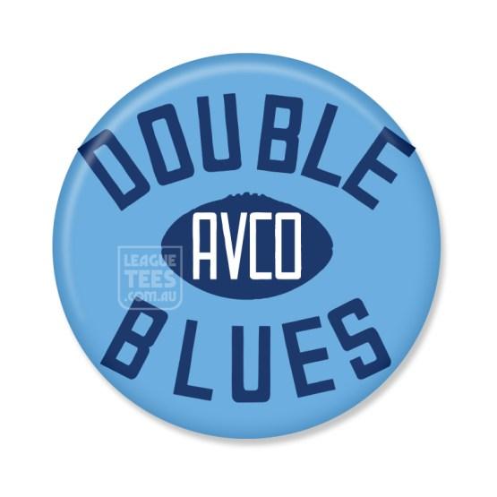 sturt double blues vintage football badge