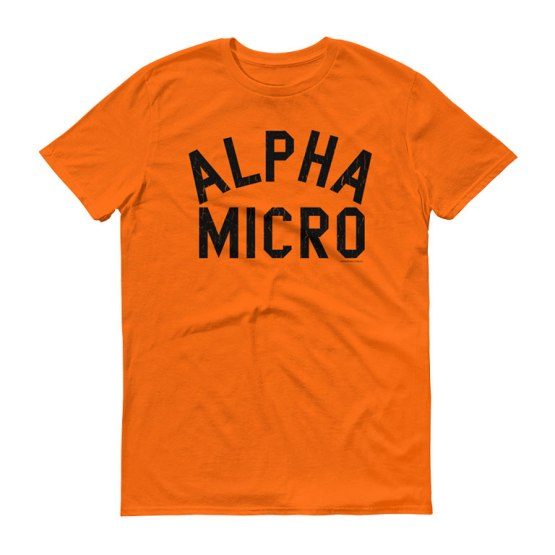 alpha micro balmain shirt orange