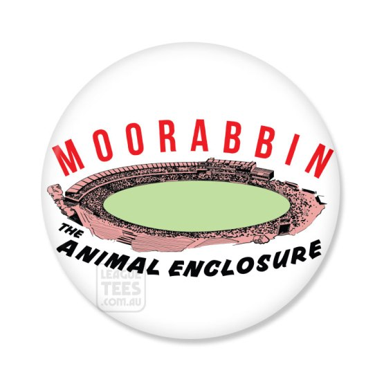 moorabbin oval vintage football badge
