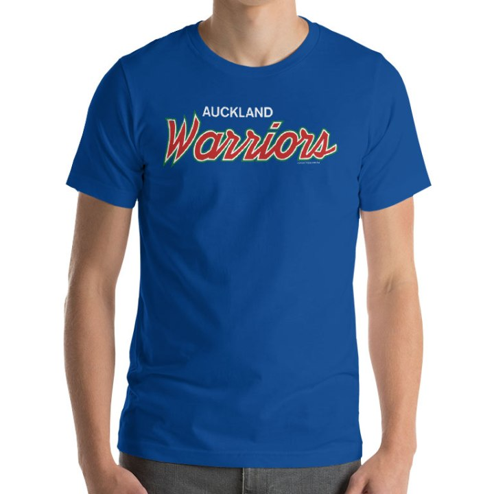 auckland warriors team t-shirt