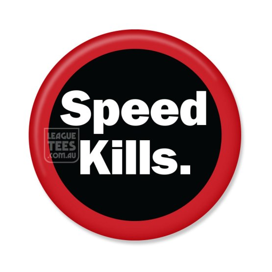 speed kills essendon badge