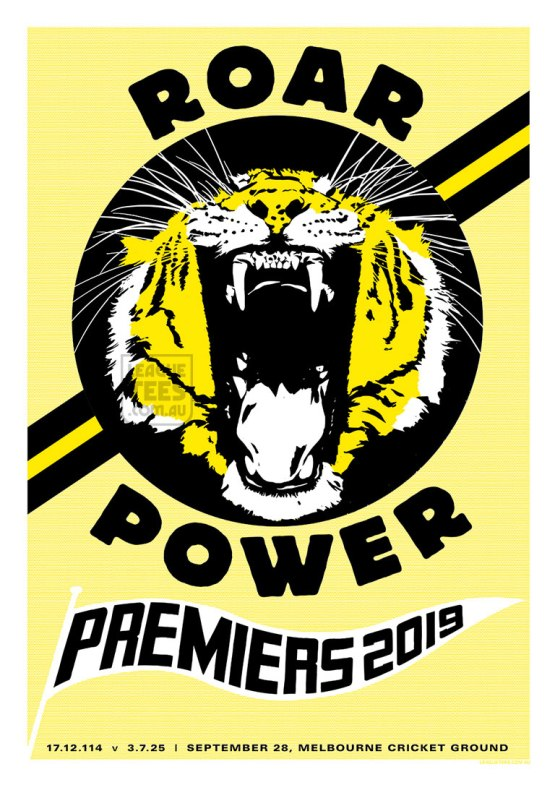 tigers grand final poster