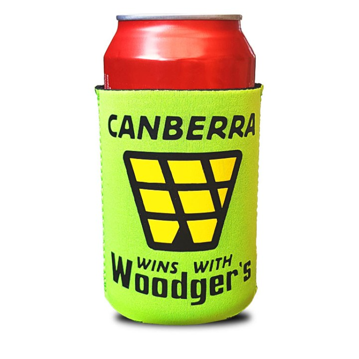 canberra woodgers 80s stubby holders