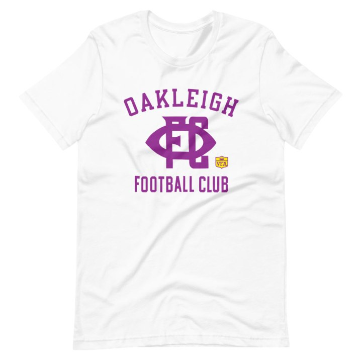 oakleigh football club vintage football shirt