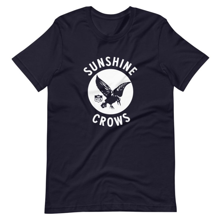 sunshine crows football club shirt blue