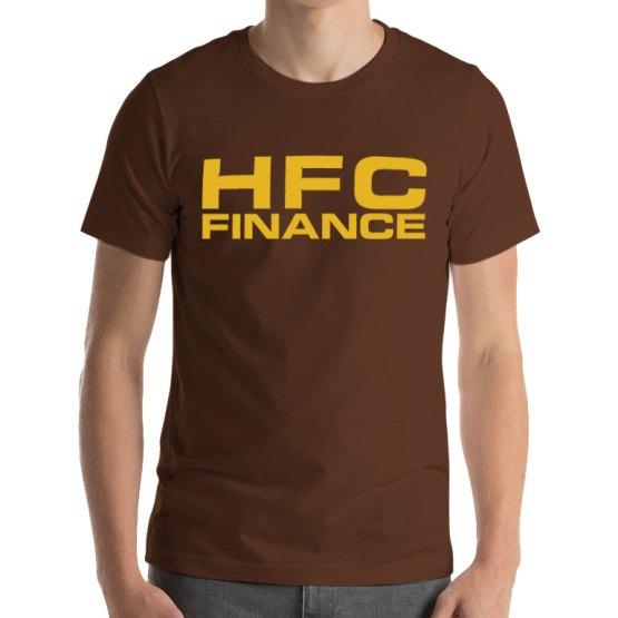 HFC retro football shirt brown gold