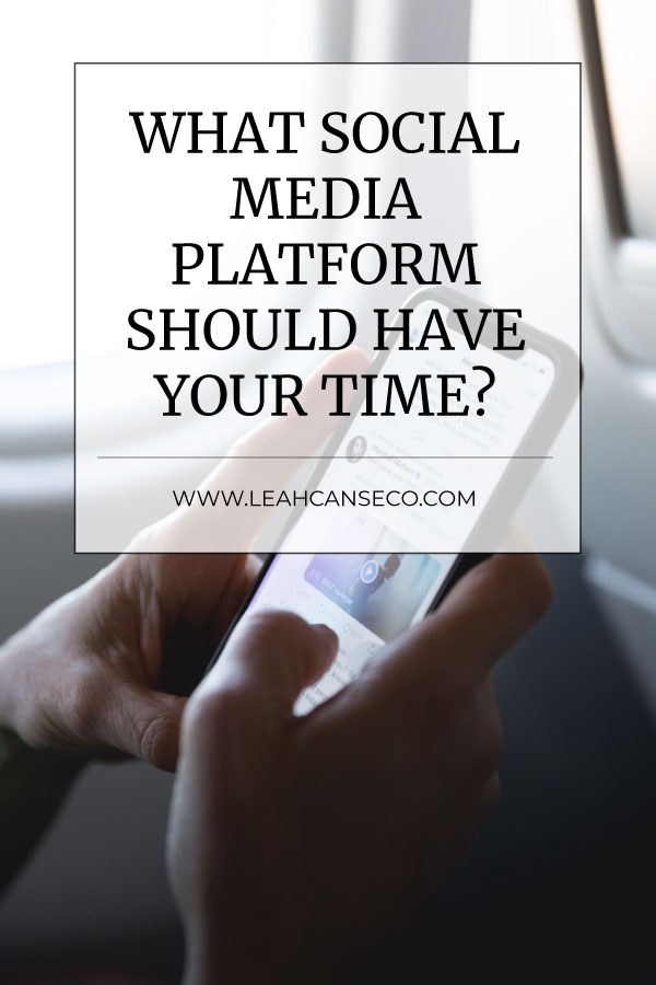 What social media platform should have your time? #socialmedia #onlinemarketing #onlinebusiness