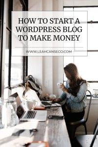 how to start a wordpress blog to make money