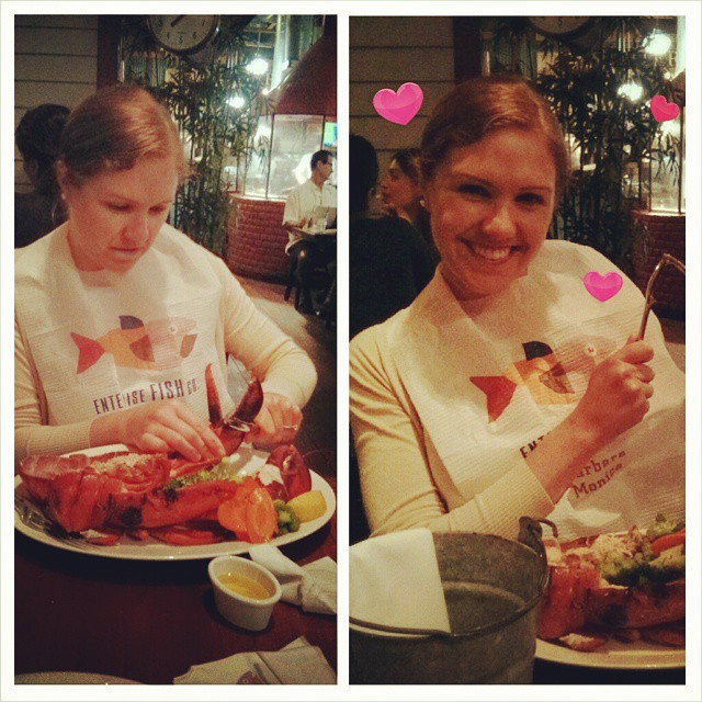 The day Leah discovered lobster.........
