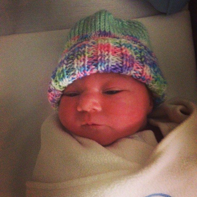 The best way to wake up this stormy morning was to find out I'm an aunt! I LOVE HER SO MUCH!