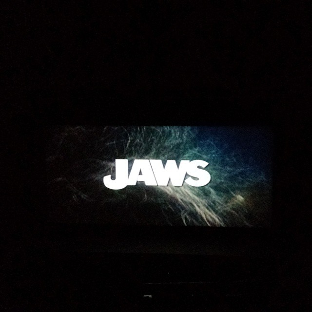 """""""We're gonna need a bigger boat."""" First summer movie classic at The Paramount Theatre and first time seeing Jaws!"""