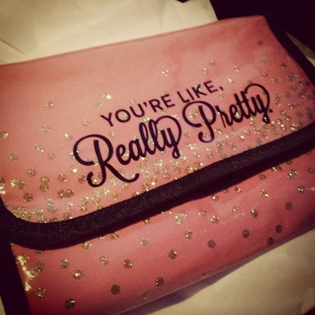 Why thank you.  Obsessed with my new makeup case from Francesca's. #motivationtoactuallymakeaneffort