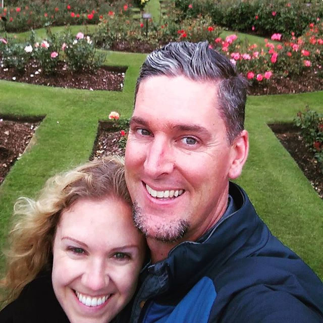 Coming up on our 5th wedding anniversary - happened upon the Belfast version of the rose gardens we were married in.  Queens University Rose Gardens.