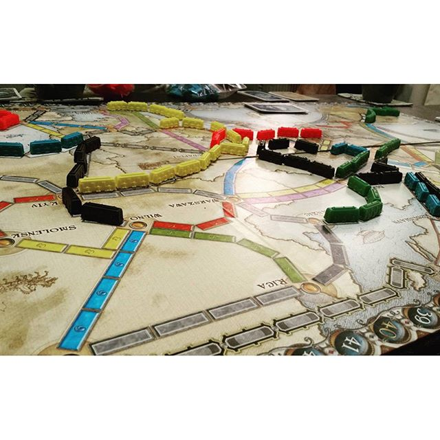Thanksgiving board games.  #tickettoride
