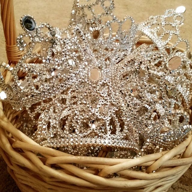Nothing better than a basket of tiaras!