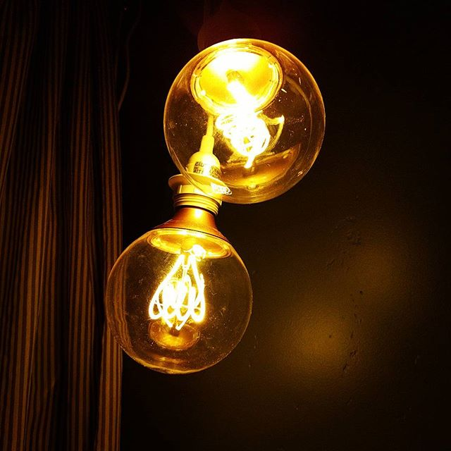 Hanging Edison bulbs for Edison.  #3weeksandcountimg