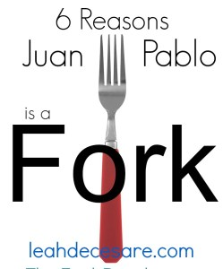 reasons juan pablo is a fork, The Bachelor, 2014 Bachelor, Juan Pablo and Nikki, red handled fork, fork with red handle