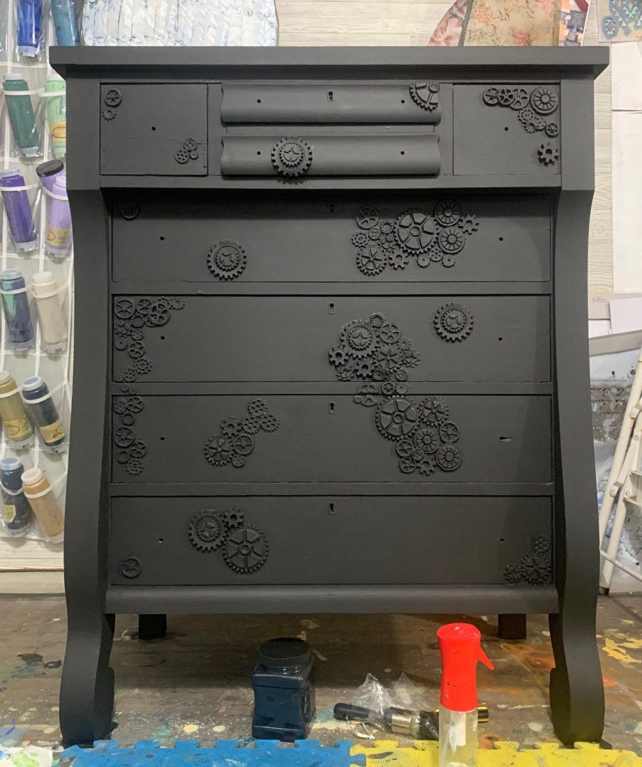 Industrial steampunk dresser
