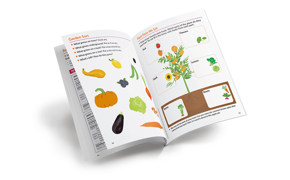 Food Smarts Kids Workbook - Interior