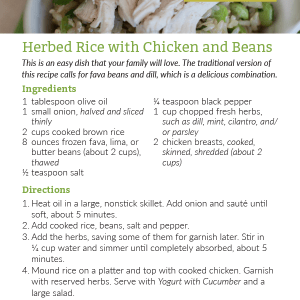 Herbed Rice with Chicken and Beans