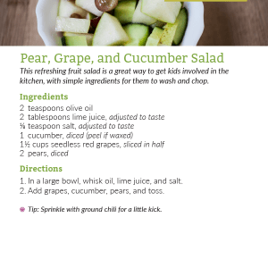 Pear, Grape, and Cucumber Salad