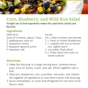 Corn, Blueberry, and Wild Rice Salad