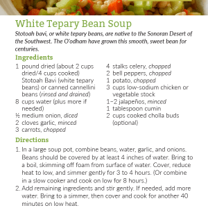 White Tepary Bean Soup